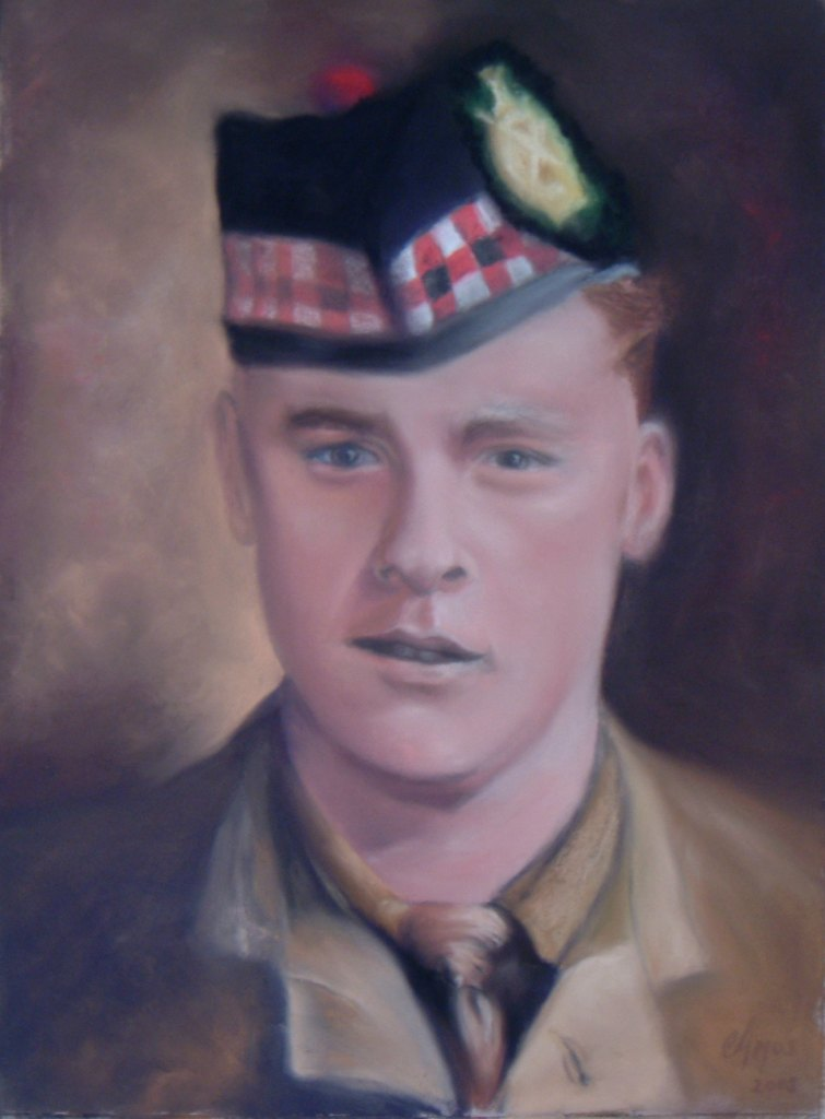 Pastel portrait by Scottish artist Christopher Amos
