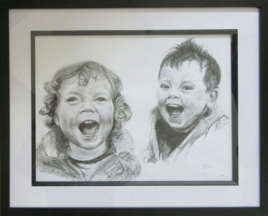 Child portrait in charcoal by Amosartworks