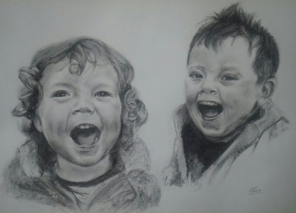 Charcoal portrait by Amosartworks