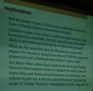 Faigenbaum on implications of Australian Family VIolence law on get refusal