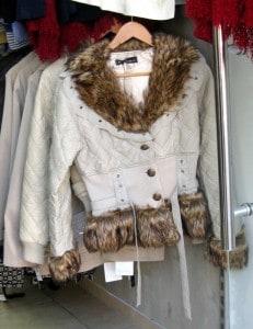 Funky fur-trimmed jacket