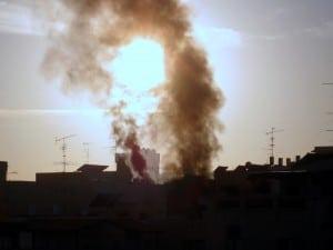 Rooftop Fire in Petach Tikva