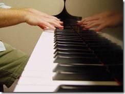 piano reflection