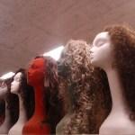 assortment of long wigs