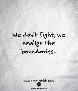 realign boundaries