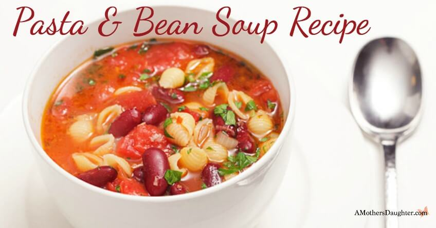 Quick Pasta and Bean Soup Recipe 2
