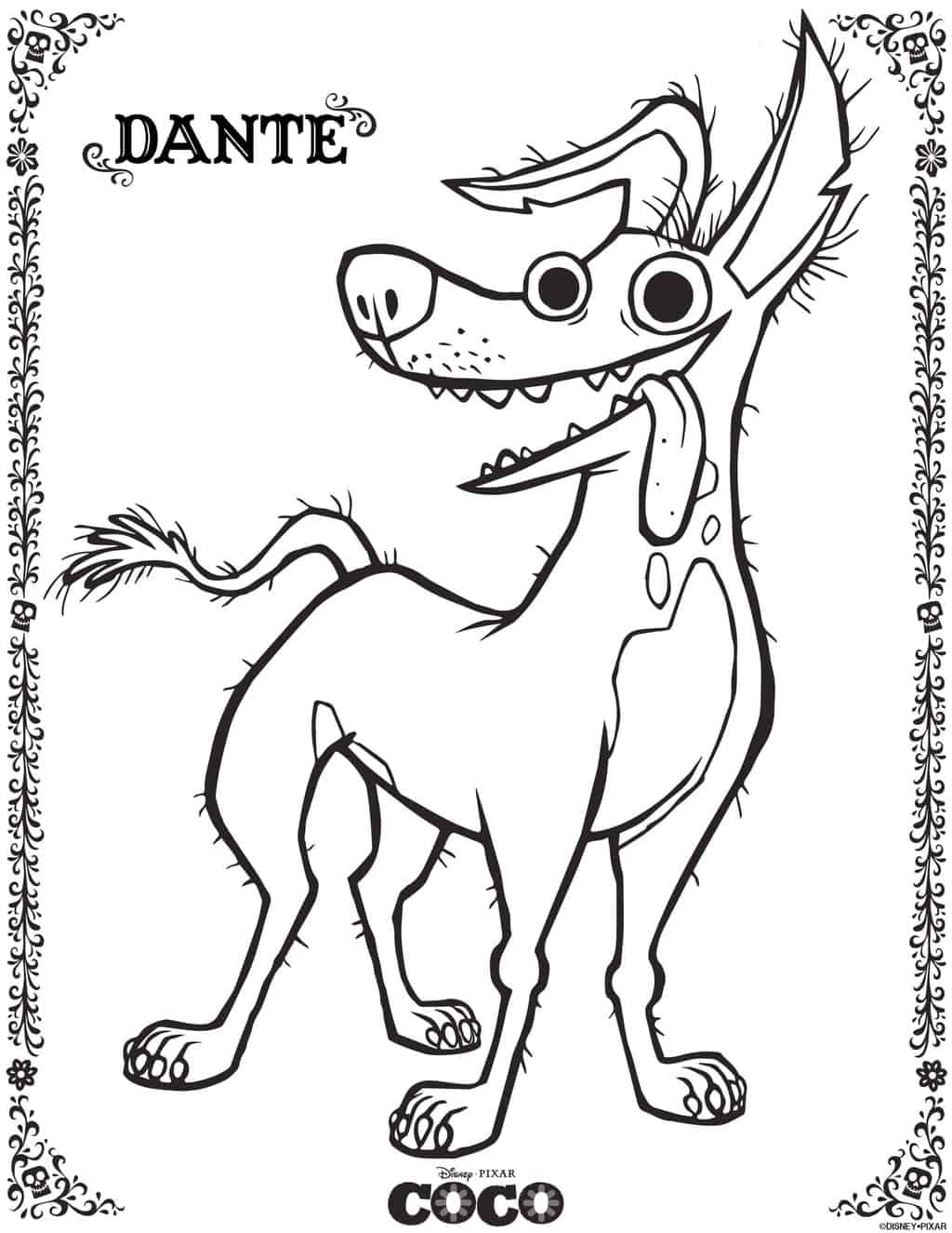 Disney•Pixar's COCO Coloring Pages and Activity Sheets