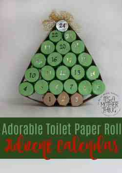 Adorable Toilet Paper Roll Advent Calendar
