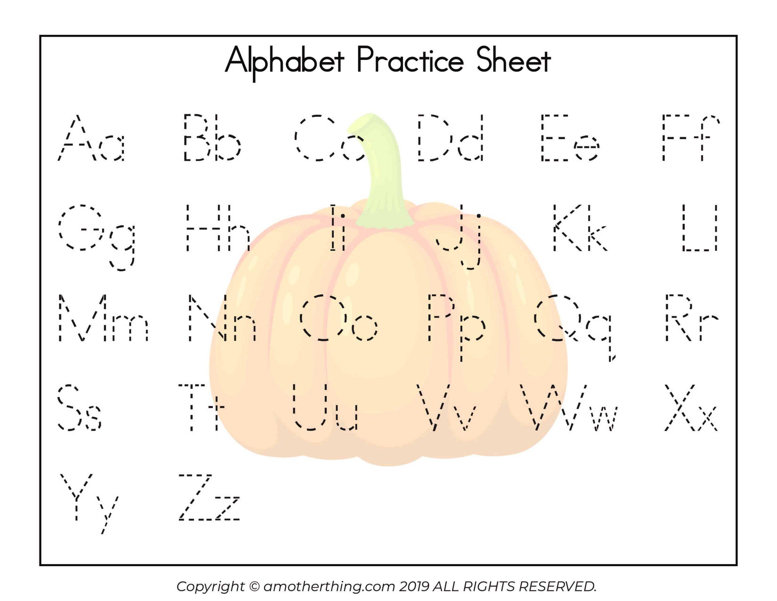 Free Printable Autumn Abc Writing Practice Worksheets