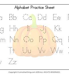 Free Printable Autumn ABC Writing Practice Worksheets [ 1978 x 2560 Pixel ]