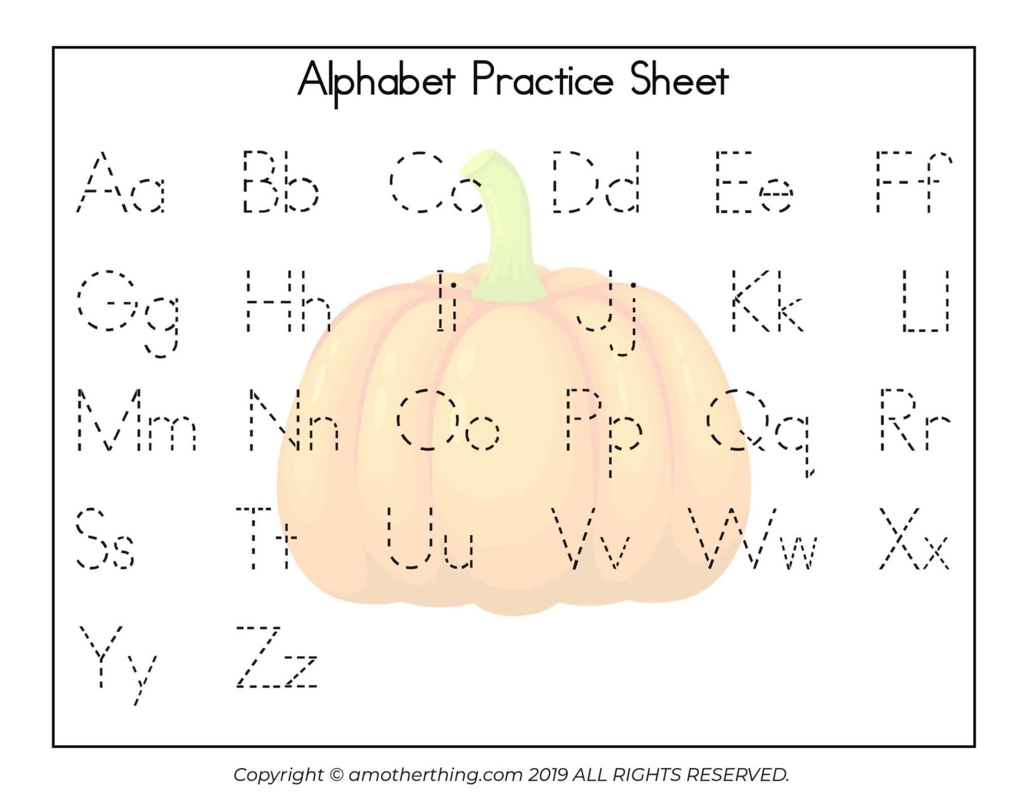 hight resolution of Free Printable Autumn ABC Writing Practice Worksheets