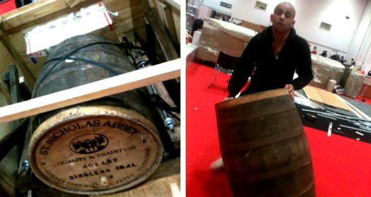 Rumfest 2013 st nicholas abbey barrel in crate and rolled