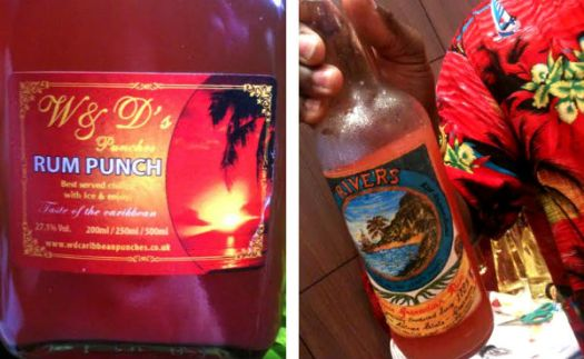 Rum punch collage
