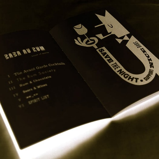 Baba menu book