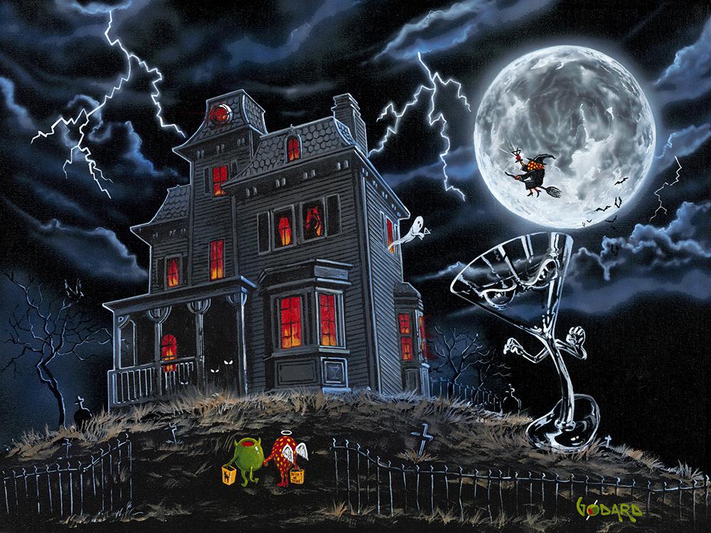 Cute Cartoon Fall Wallpaper Halloween Haunted House By Michael Godard Michael Godard