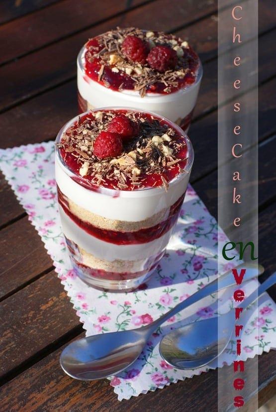 Verrine Cheesecake A La Confiture De Framboise Amour De
