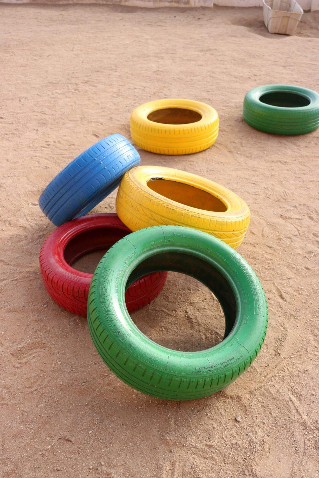 Neumáticos pintados1