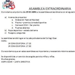 Asamblea - Castellano