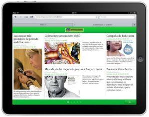 Web adaptada al ipad
