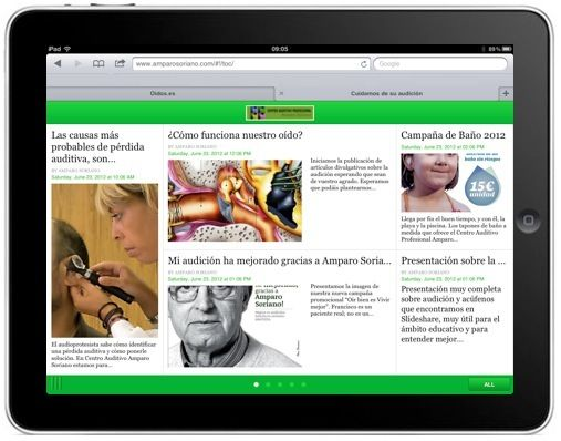 Web adaptada al ipad