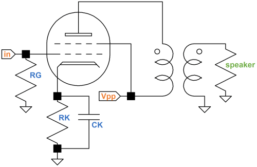 small resolution of single ended guitar amplifier power amp circuit