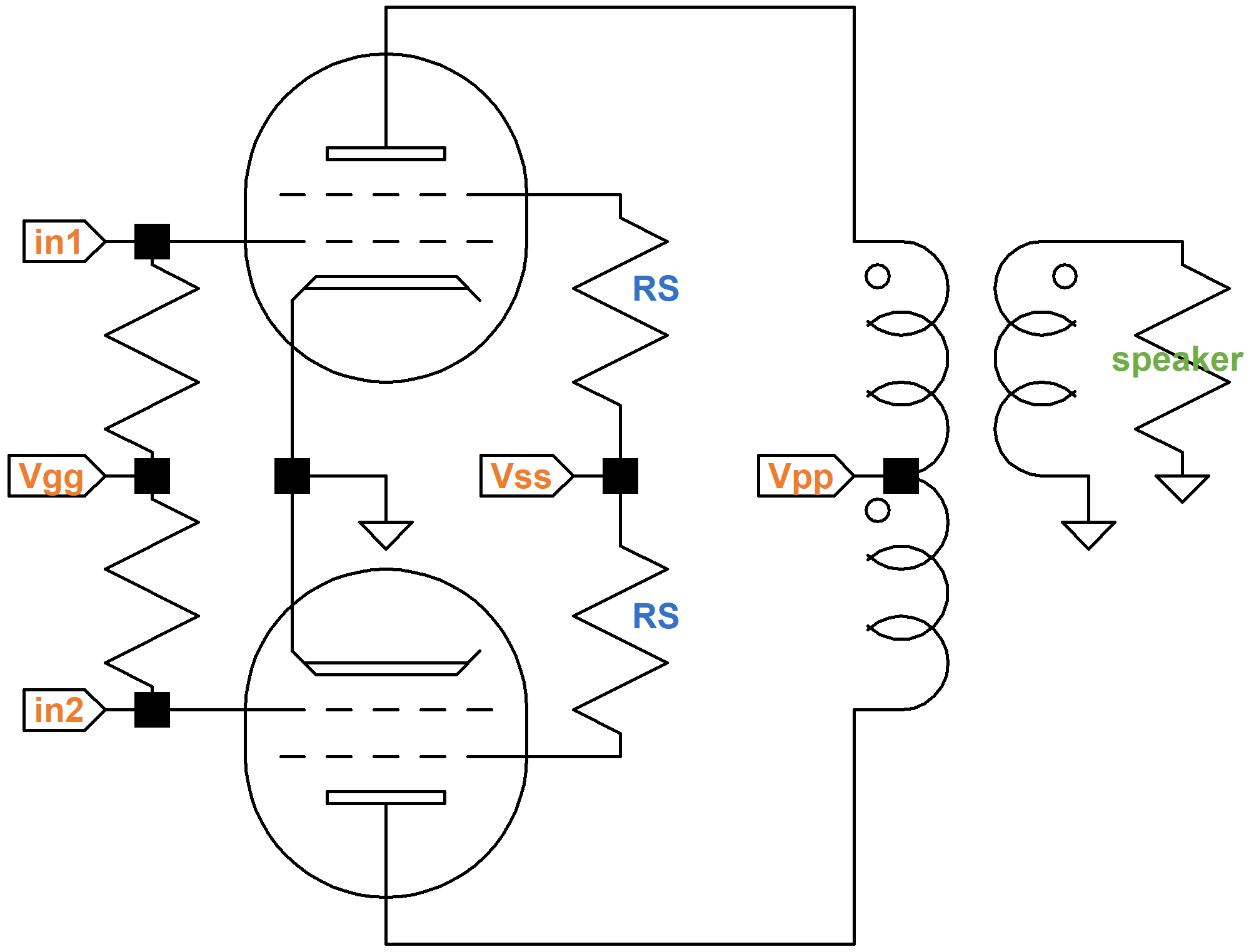 Guitar Amp With Variable Harmonic Distortion