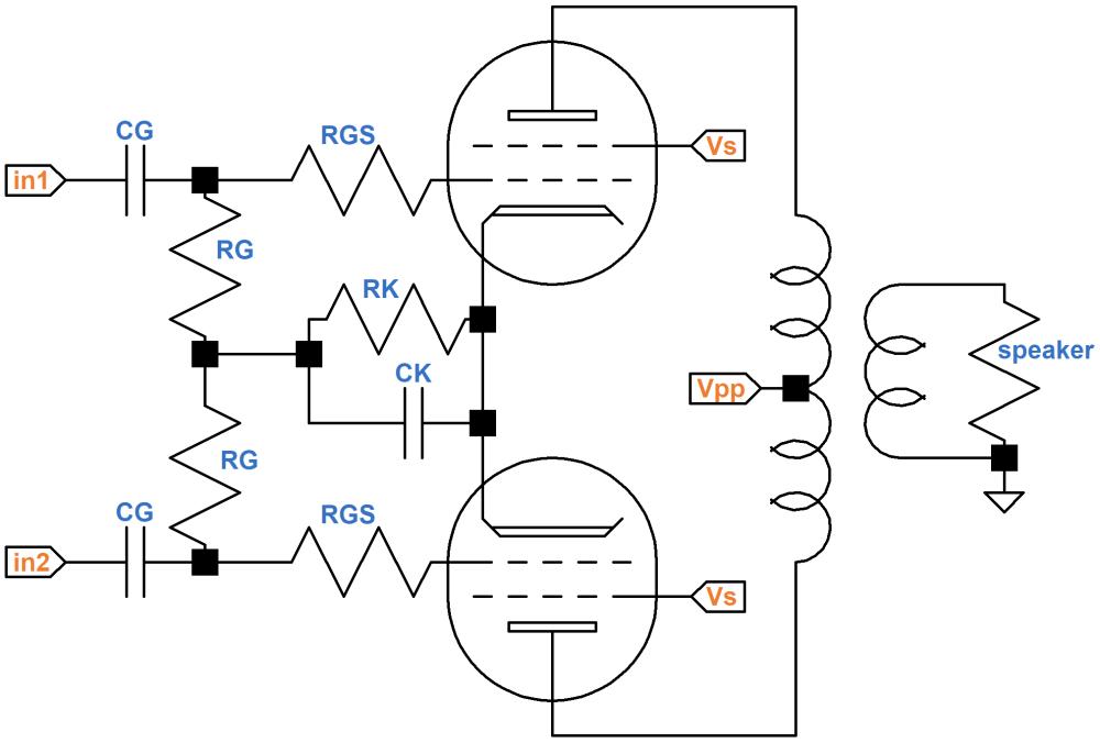 medium resolution of push pull output transformer net current
