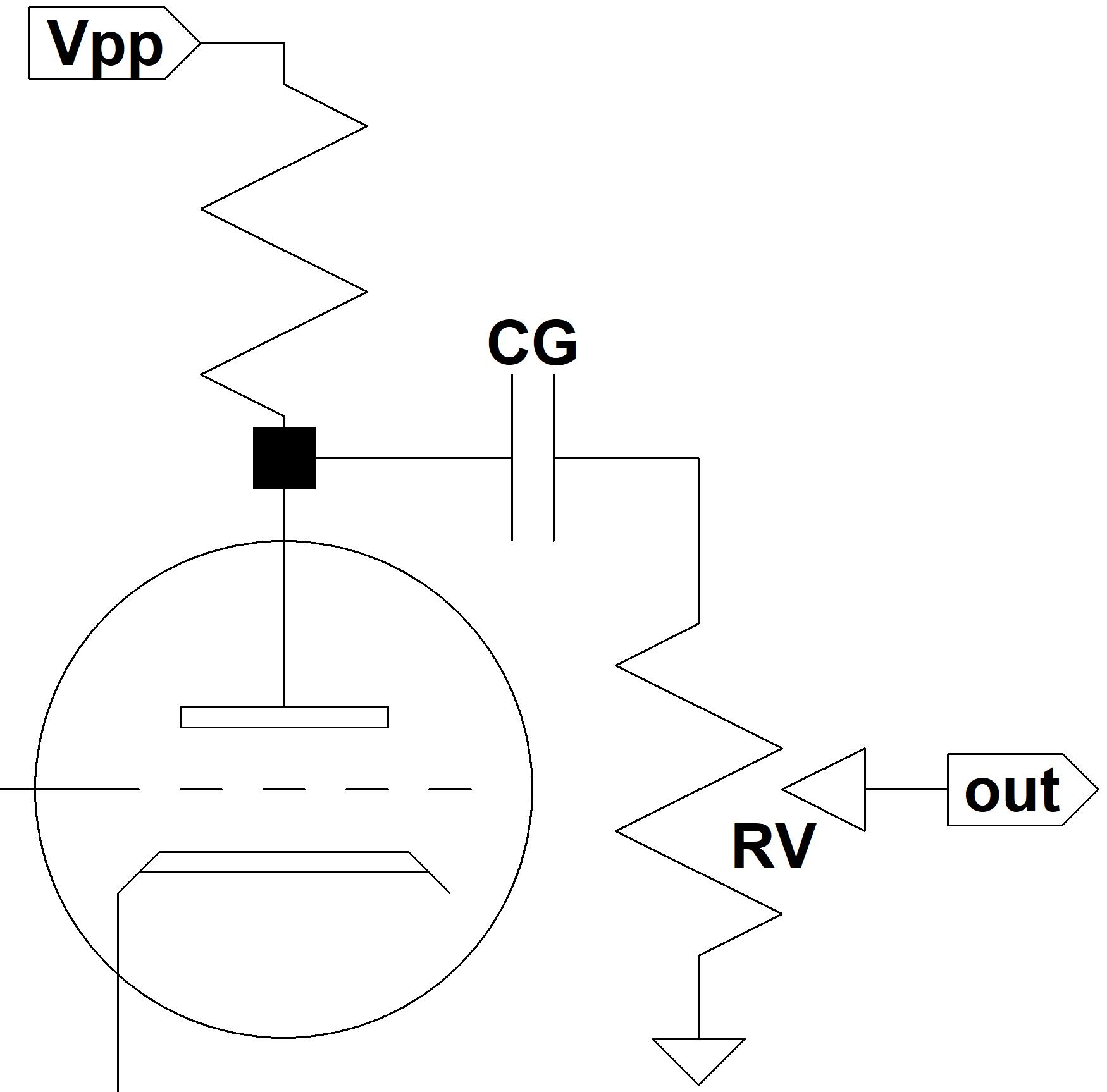 hight resolution of guitar amp coupling capacitor circuit
