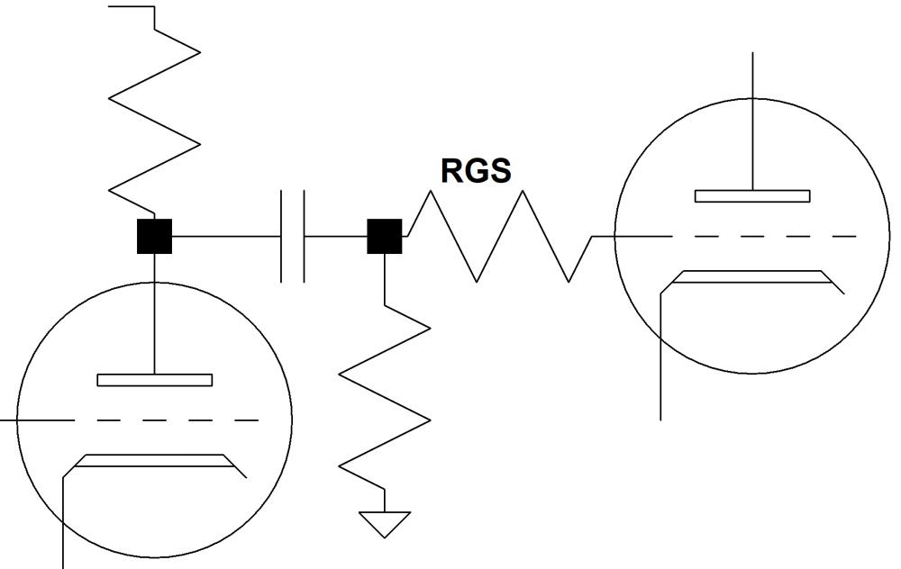 medium resolution of guitar amp grid stopper resistor circuit