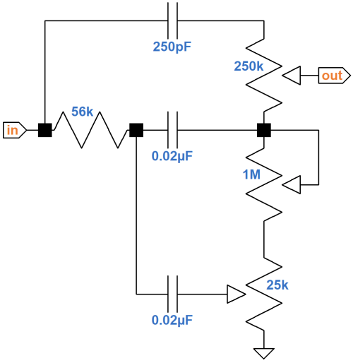 small resolution of fender bassman 5f6 a tone stack schematic