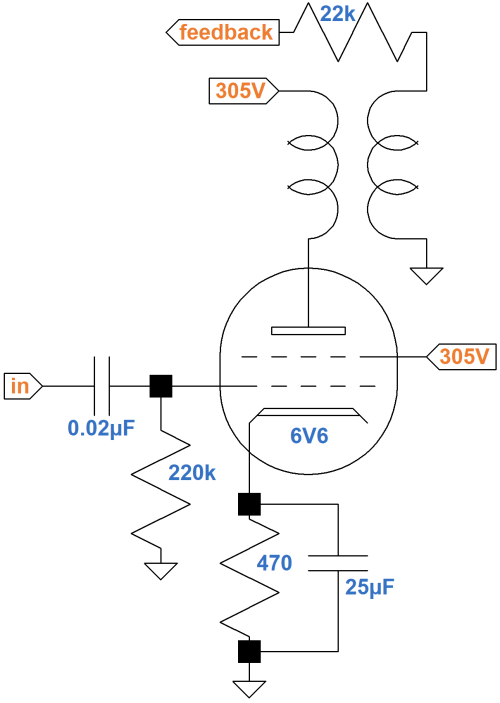 small resolution of fender champ 5e1 circuit analysisfender champ 5e1 power amp circuit