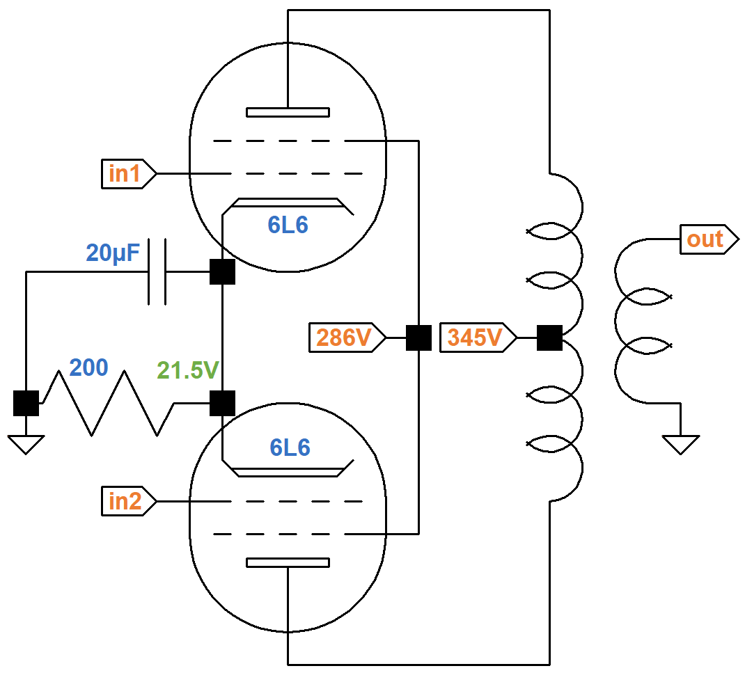 Spice Simulation Of The Epiphone Deluxe Ea 10 Power Amp