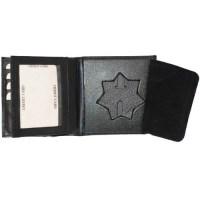 Badge Holder Wallet Genuine Leather Black Police Fire ...