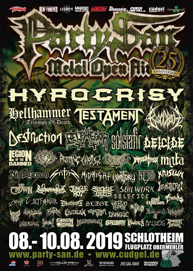 Party.San Metal Open Air 2019: de complete affiche.