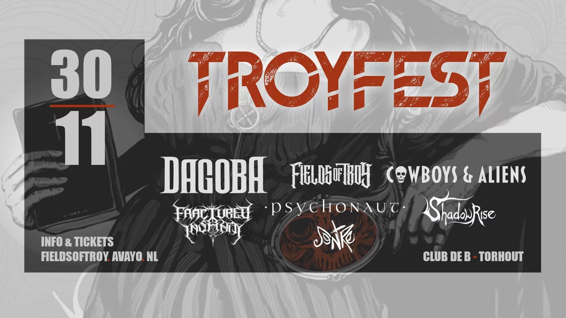 Troyfest – 30 november – Club de B, Torhout