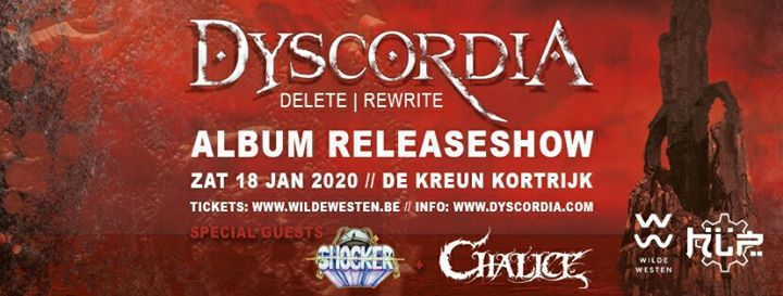 Dyscordia + Chalice + Shocker / De Kreun, Kortrijk / 18-01-2020