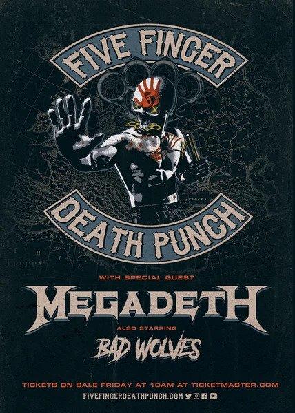Five Finger Death Punch + Megadeth + Bad Wolves / Afas Live / 26-01-2020