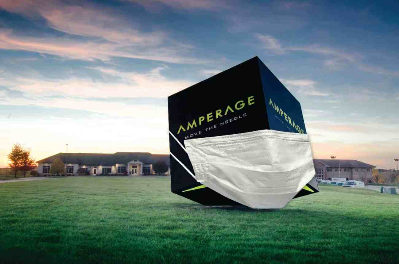 marketing agency, AMPERAGE cube in mask
