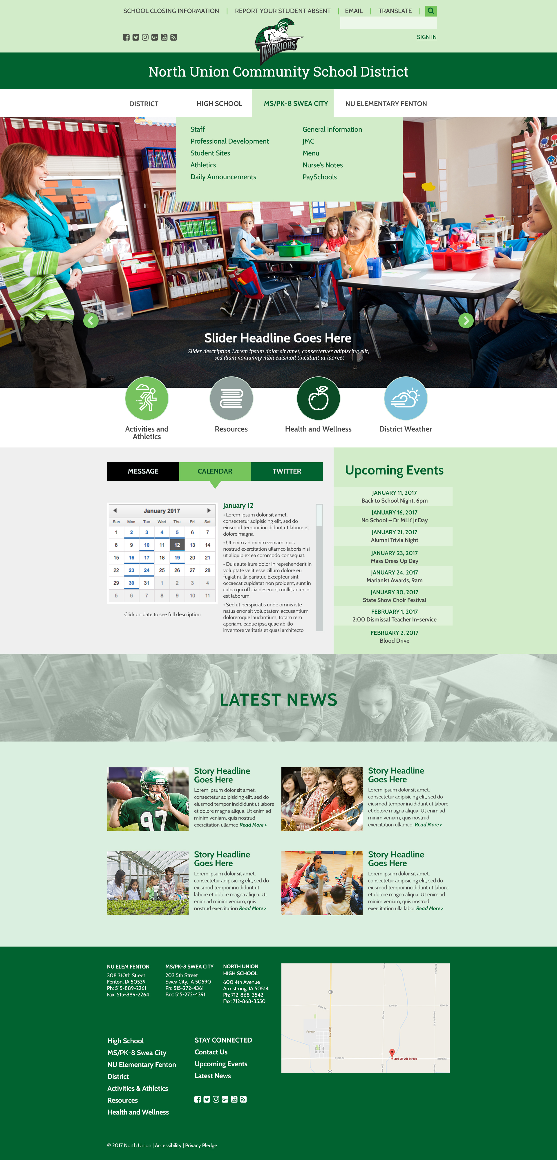 Design #3 - Homepage with Hover
