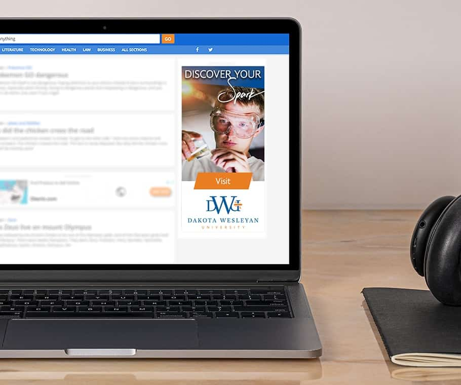 Dakota Wesleyan University Digital Ad Placement