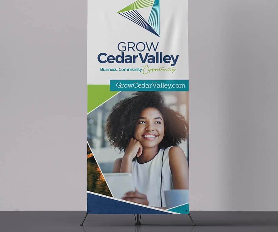 Grow Cedar Valley Banners