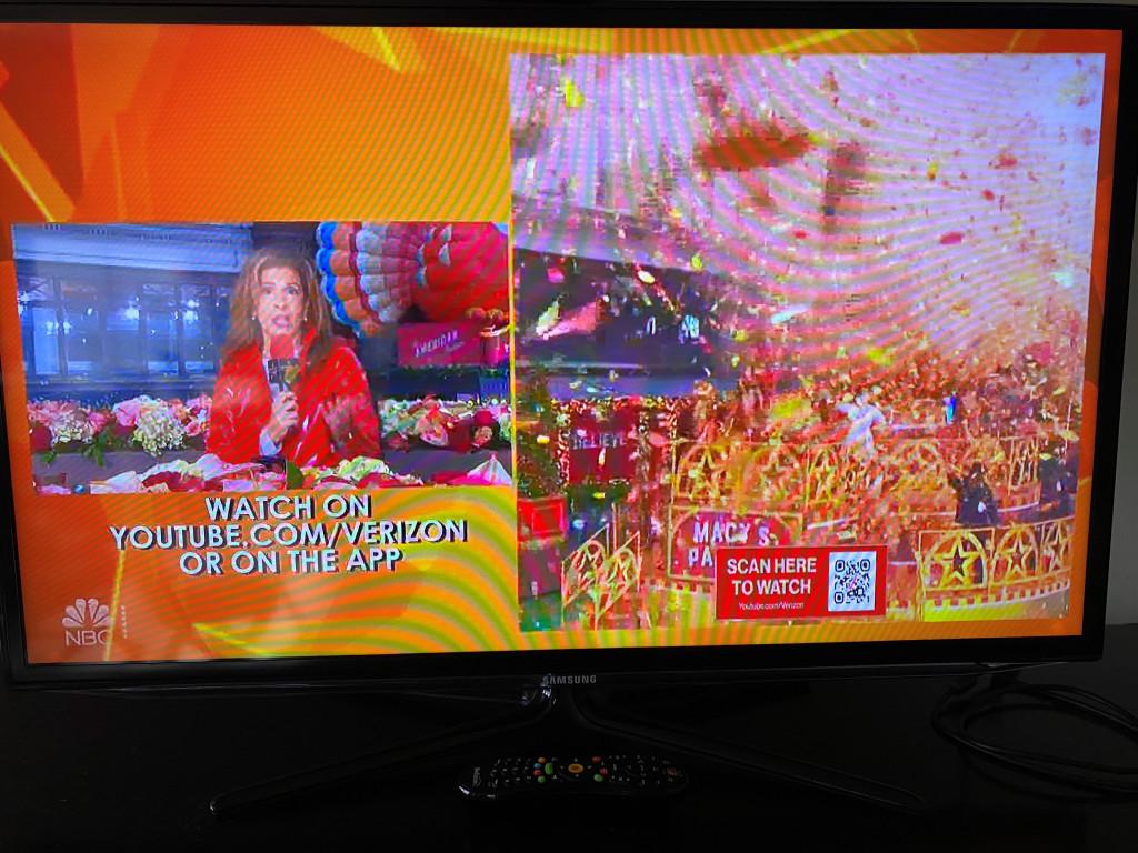 QR Code on TV