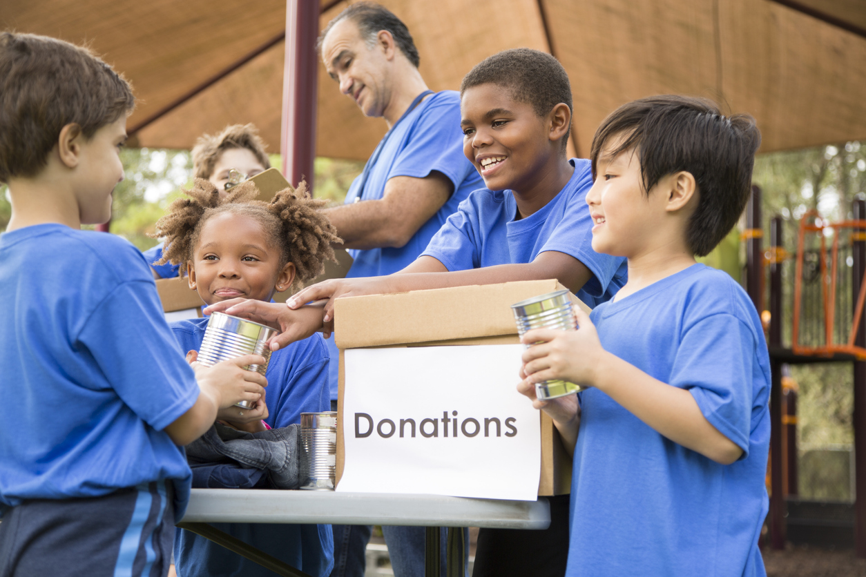 fundraising rule - people give to people - kids helping at fundraising event