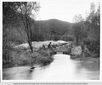 Los Angeles River at Griffith Park, c. 1900