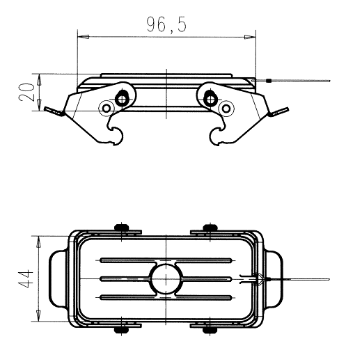 C146 10Z016 100 1 Protective cover for housings. Only for