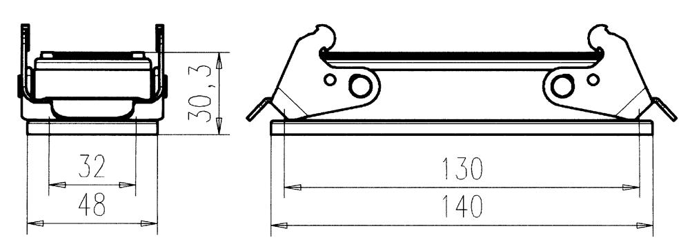 C146 11F024 902 8 Version B housing with bulkhead mounting