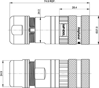 MB1CKN0800-KIT 8 Position Straight plug kit, Threaded, female