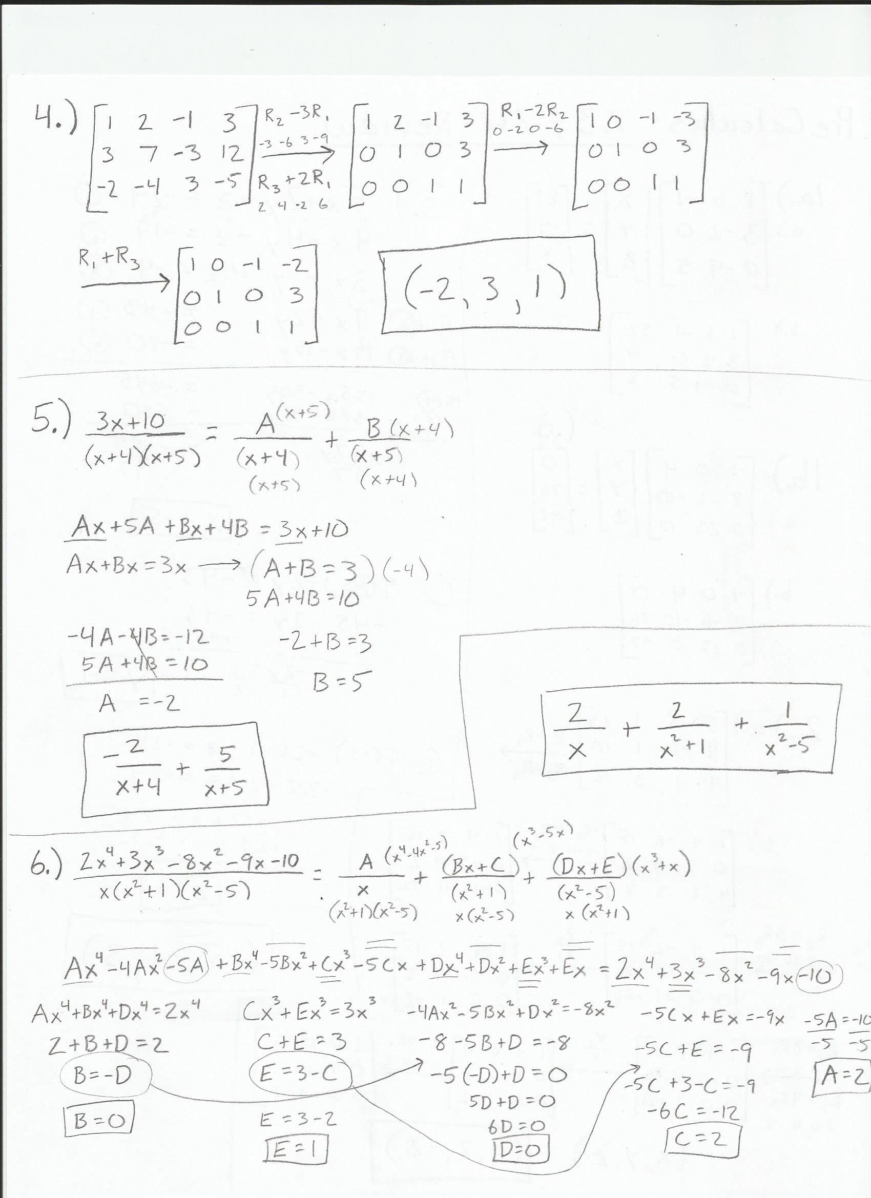 Pre Calculus Homework Answers Precalculus Homework Help