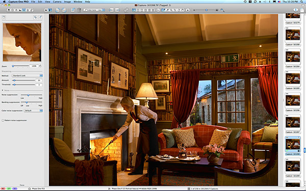Final image of the Library at the Club house in Dromoland Castle