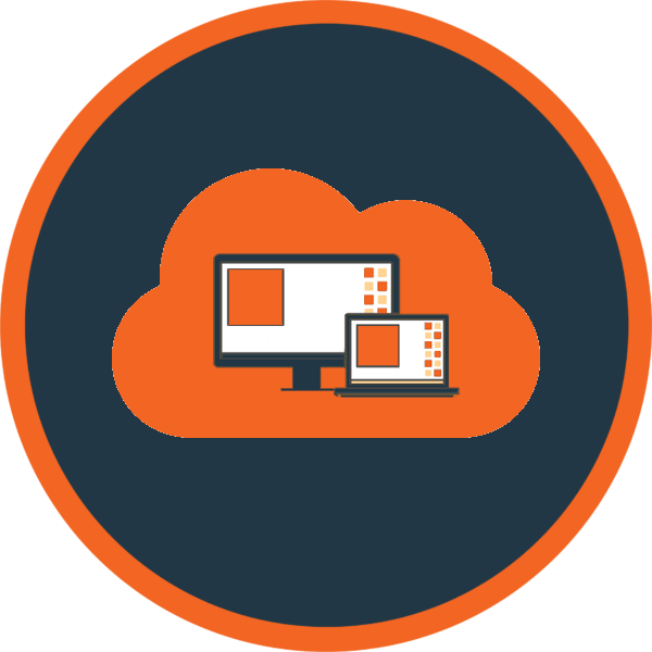 Cloud Desktops Orange Icon